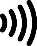 クレジットカードのタッチ決済マーク画像